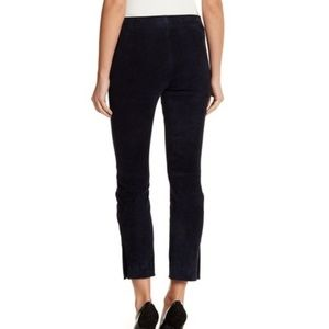 Vince Navy Blue Suede Split-Hem Pants M